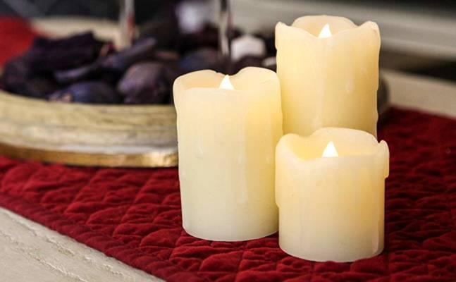 bougies LED pour déco minimaliste
